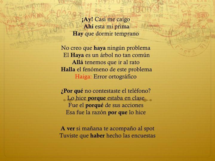 Chuleta ortográfica 16/Oct/15