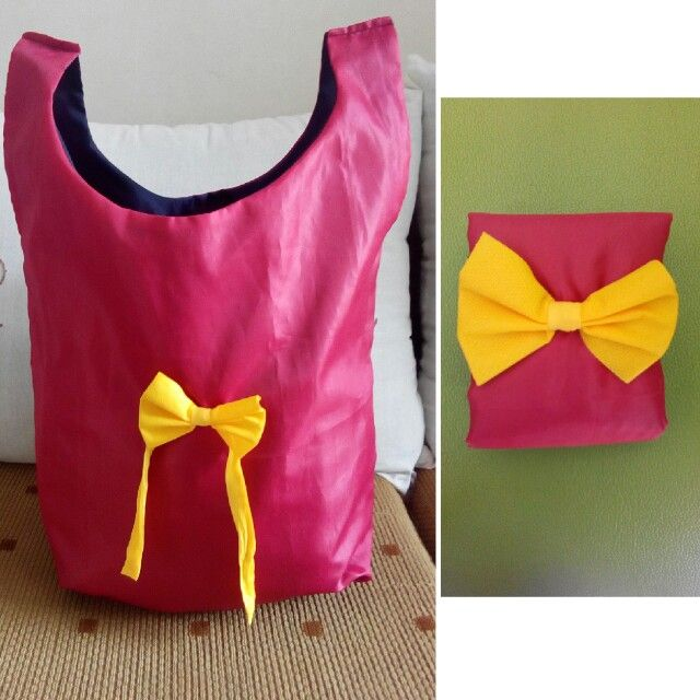 Folding shopping bag, tas belanja lipat, bahan parasut anti air