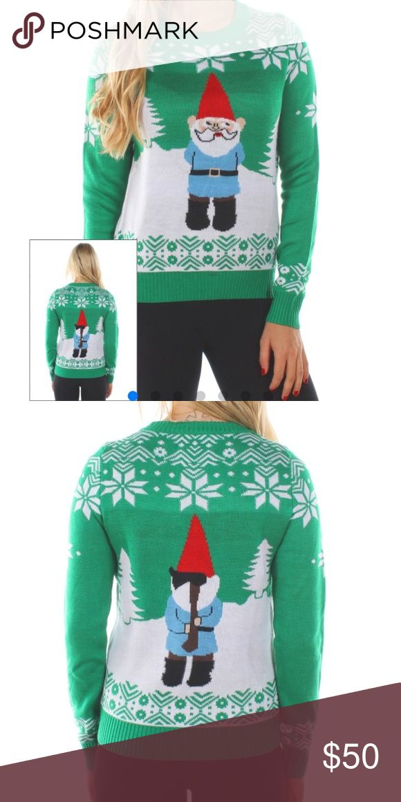 Tipsy Elves Suspicious Gnome sweater. Size Xl Worn once for a Xmas party. Sweater is amazing. You need this....😲 Tipsy Elves Sweaters