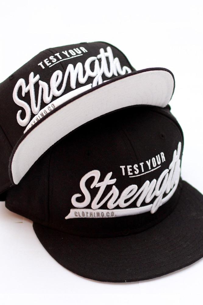 """Strength' Snapback"" Test Your Strength http://testyourstrength.bigcartel.com/product/strength-snapback-black"