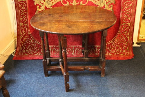 Small Mid 17th Century Gateleg Table Furniture I May