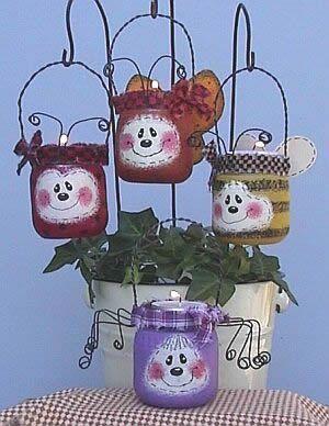 Baby Food Jar Votive Bugs.: Baby Food Jars, Christmas Crafts, Crafts Ideas, Jars Candles, Jars Crafts, Sponge Paintings, Candles Holders, Baby Jars, Baby Foods