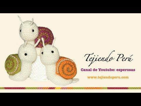 Cómo tejer un caracol a crochet (amigurumi snail) - YouTube