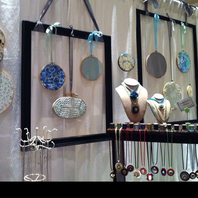 17 best images about craft show display ideas on pinterest for Jewelry displays for craft fairs