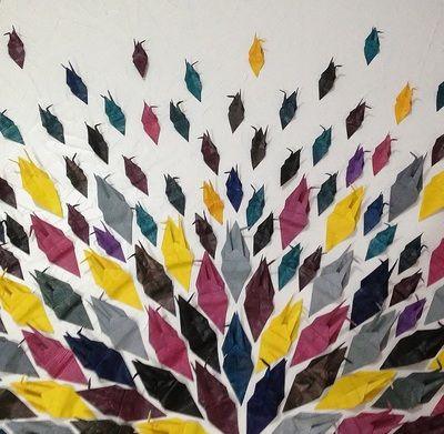 Fold fold again, 2013, acrylic on canvas,  Rebecca Lee Coates