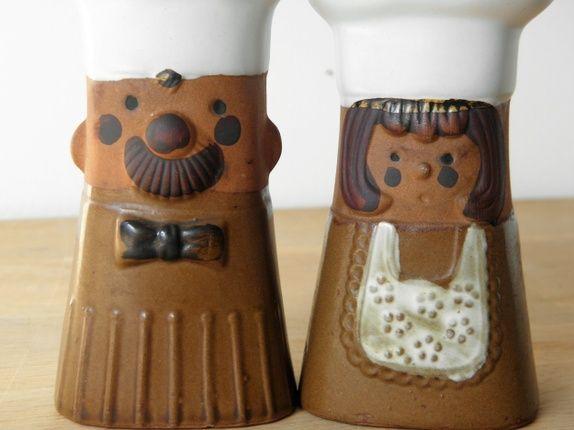 Salt- och pepparkar keramik
