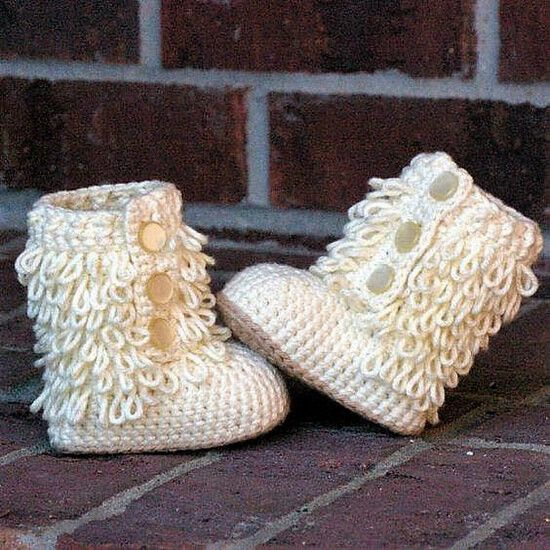And here we have the cutest crochet long winter boots on earth. The white color is best for an ethereal theme and design , the loops at the upper part of boots are giving it a furry look. The buttons are not only for ease but also adorning the cute little thing. These booties are perfect in all aspects.