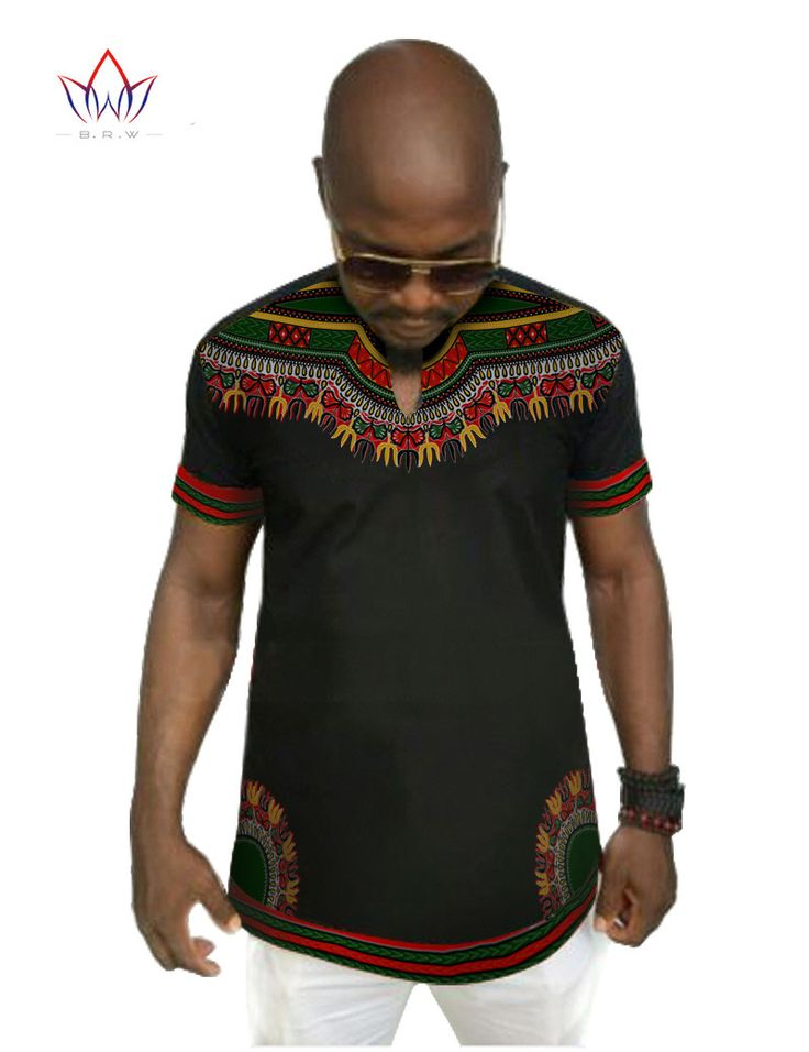 Every man will look good in this stylish, modern take on a men's dashiki. - Cotton - Batik - O-Neck - Short Sleeve - Available in Sizes (M – 6XL) - NOTE: INTERNATIONAL SIZES TEND TO RUN 1-2 SIZES SMAL