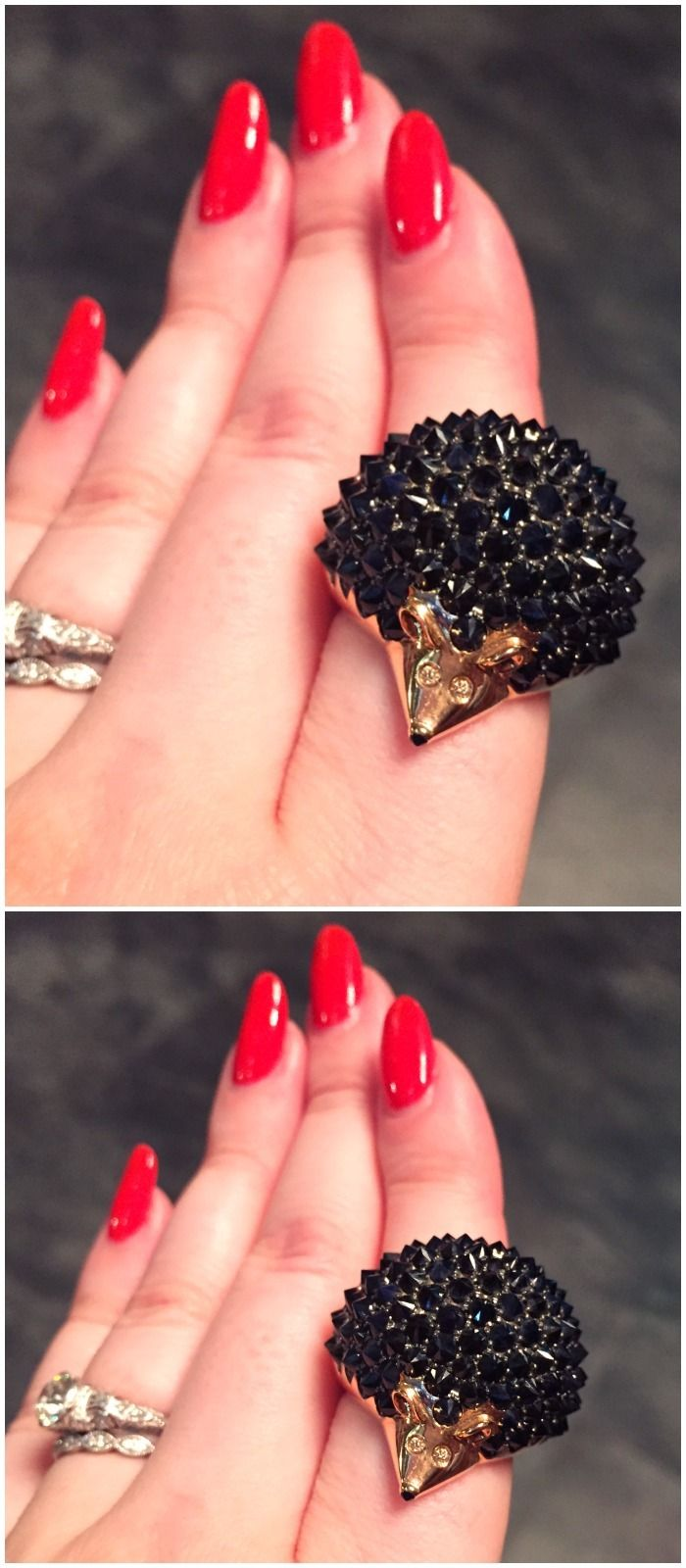 I'm pretty in love wit this hedgehog ring from Roberto Coin.