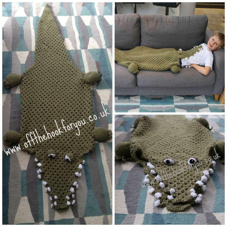 Croc/shark blankets crochet pattern