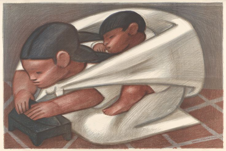 Jean Charlot (French-American, 1898-1979), The Tortilla Maker, 1941. Color lithograph, sheet: 33 x 50.8 cm; image: 31.8 x 47.2 cm.