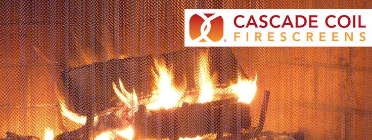 Cascade Coil Firescreens -- Custom Fireplace Screens