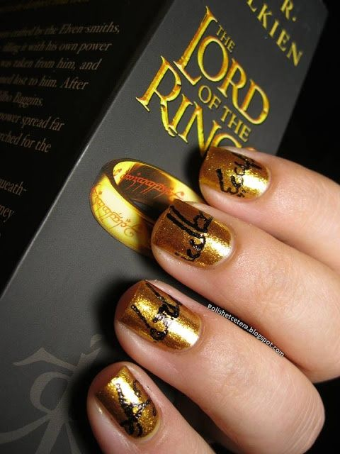 Lord of the Rings nails.