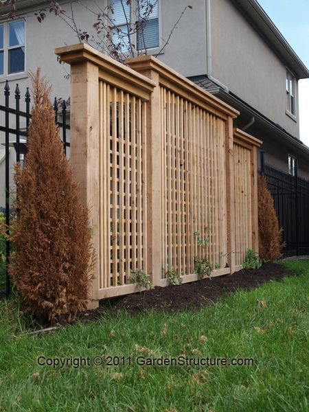 For Backyard Privacy, Consider Adding A Modern Screen To Your Fence Design.