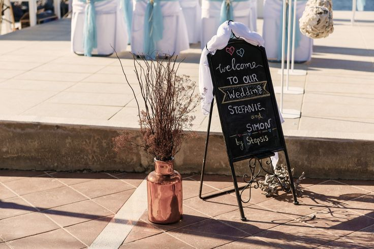 #wedding #sign #chalkboard #Crete
