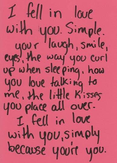 Just like I have told you before, I fell in love with you because your you, and I am in love with all of you princess.