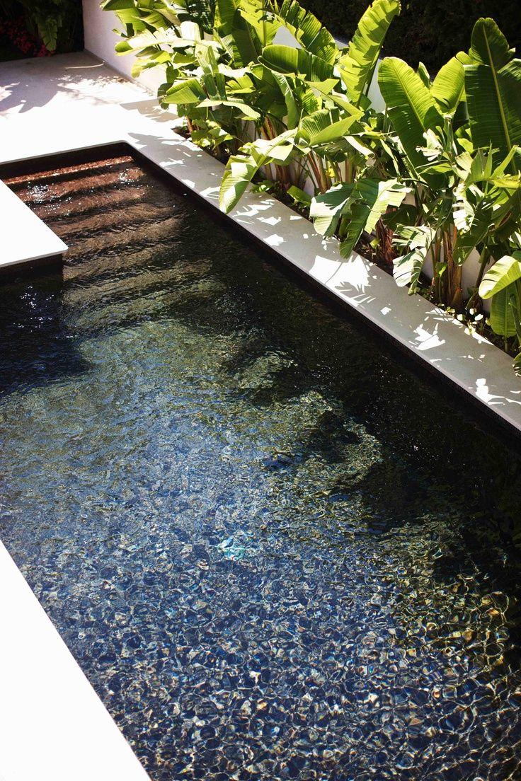 Dark outdoor pool.