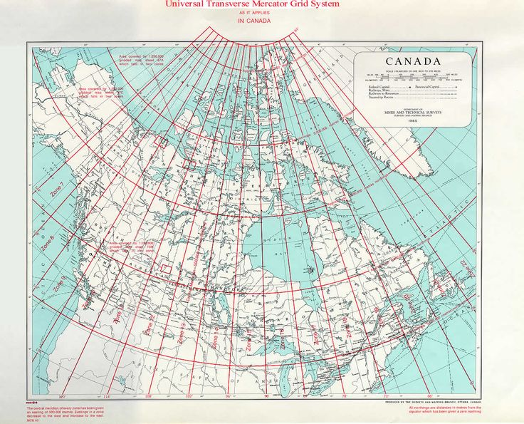 Geographical coordinates and Transverse Mercator Grid