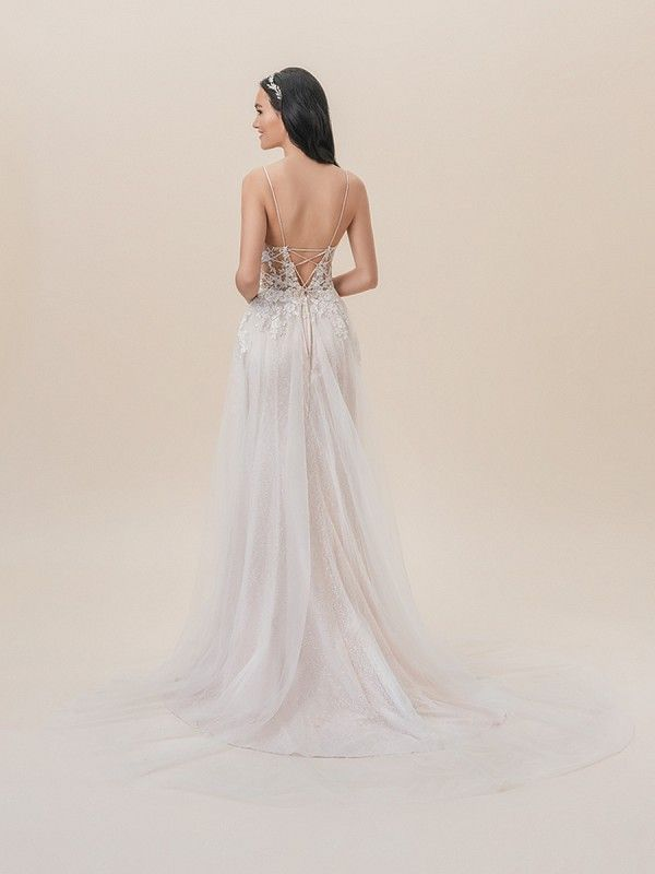Moonlight Tango Micro Strap A Line Wedding Gown Style T826