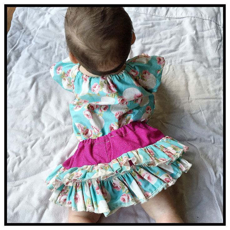 Aqua floral rufflebum bloomers and headband
