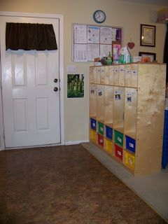 Like the idea of cubbies for each kid and a place to hang coats and put shoes...then you know who's stuff is who's!