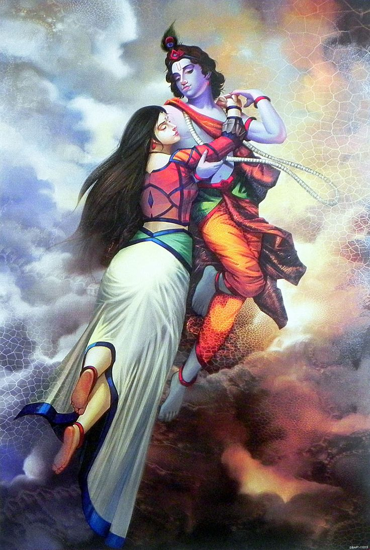 Radha Krishna - The Depths of Love (Reprint on Paper - Unframed)