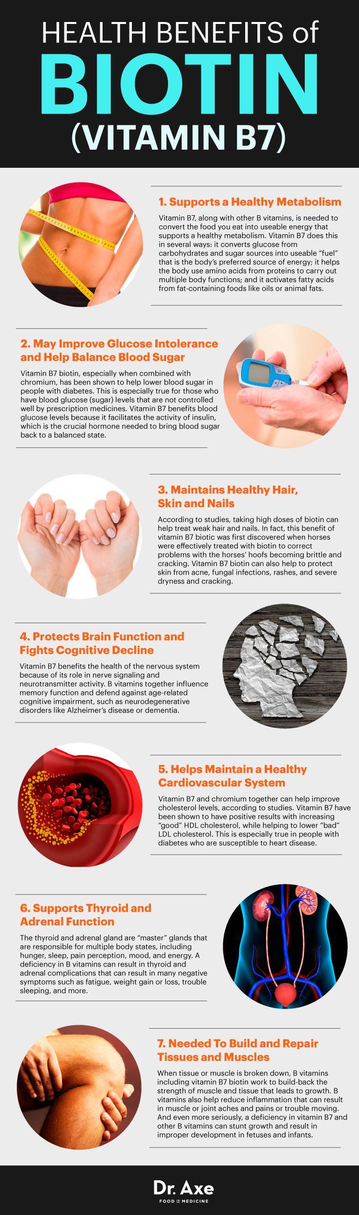 Biotin (vitamin B7) benefits