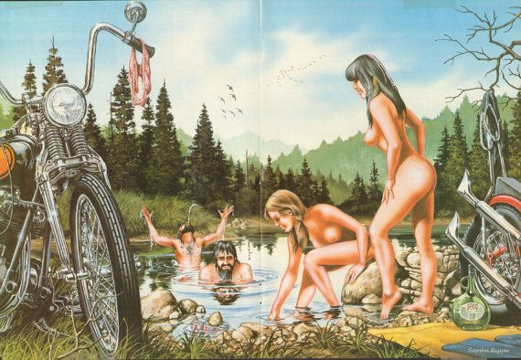 David Mann Skinny Dippin 16'' x 20'' Matted by DadsVintageAds