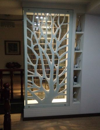 PVC wood board MDF hollow carved panels backdrop screen porch ceiling partition walls white in Continental