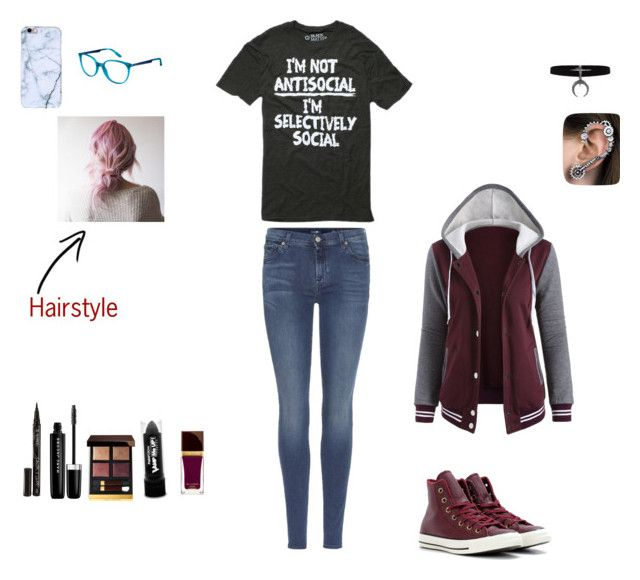 """""""First promo in Wwe ( Aaron Jordan )"""" by lightgaze on Polyvore featuring 7 For All Mankind, Converse, Carrera, Smith & Cult, Marc Jacobs, Tom Ford and PaintGlow"""