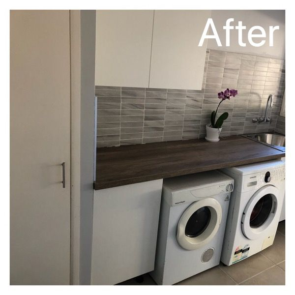 Laundry Renovations Bunnings Cupboards And Bench Top And Sink