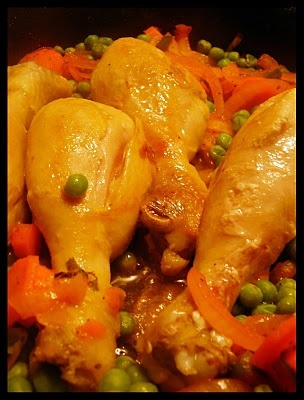 Pollo arvejado