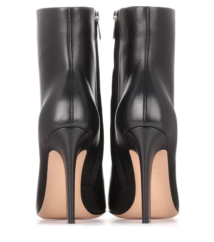 Daryl black leather ankle boots