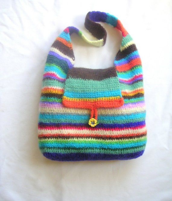 Felted Crochet : ... Felted Crochet Bags on Pinterest Hobo bags, Crocheted bags and Bags