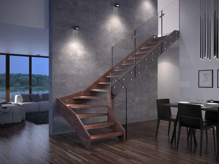 Escalera abierta de madera VISIO by RINTAL