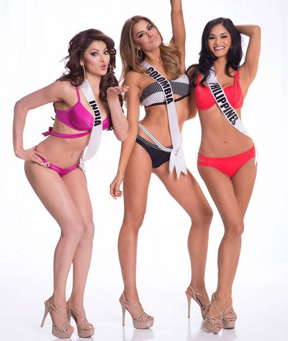 Miss India 2015 Urvashi Rautela, Miss Colombia 2015 Ariadna Gutierrez-Arevalo and Miss Philippines - LE SUPER GNOCCHE CHICKS