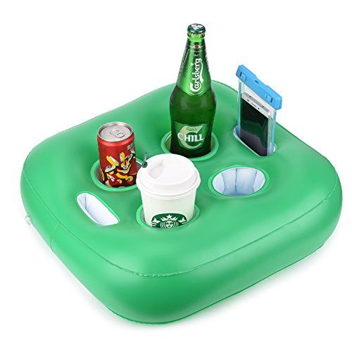 Feebria Floating Drink Holder Pool Floats Upgraded Design With 4 Holes For Pool Fun,Party - Cool Kitchen Gifts