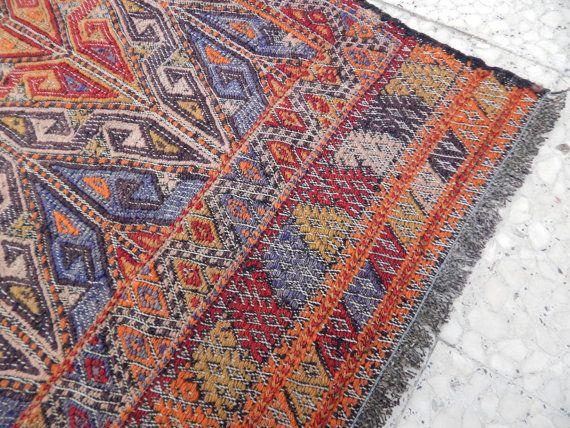Vintage Authentic NAVAJO Rug,Woven Native American Interior Kilim Rug,Textile  Weaving,Handcrafted Southwest Wool Rug 6u00272u0027u0027x7u00278u0027u0027/ 187x233cm