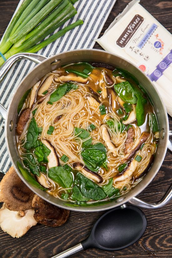 Traditional #Miso #Soup gets some tasty, and filling additions in this #easy to make Noodle Miso Soup. #recipe