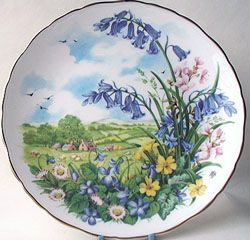 Royal Albert - As Seasons Unfold - Collector Plates www.royalalbertpatterns.com --Blossom By Blossom the Spring Begins