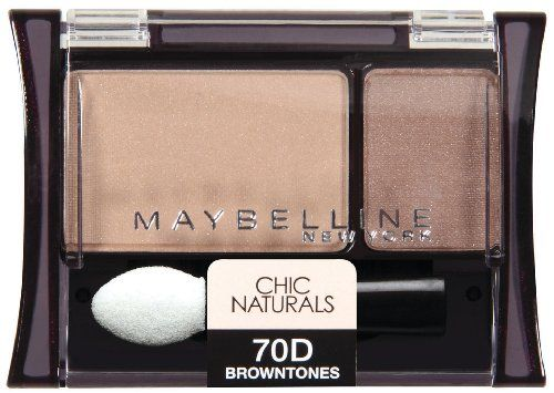 Maybelline New York Expert Wear Eyeshadow Duos, 70d Browntones Chic Naturals, 0.08 Ounce