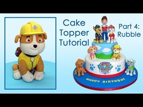 Paw Patrol (Cake Toppers) Part 4: Rubble / Patrulla de cachorros parte 4: Rubble - YouTube