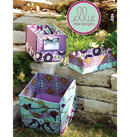 K0107   Stash Baskets   Miscellaneous   Kwik Sew Patterns