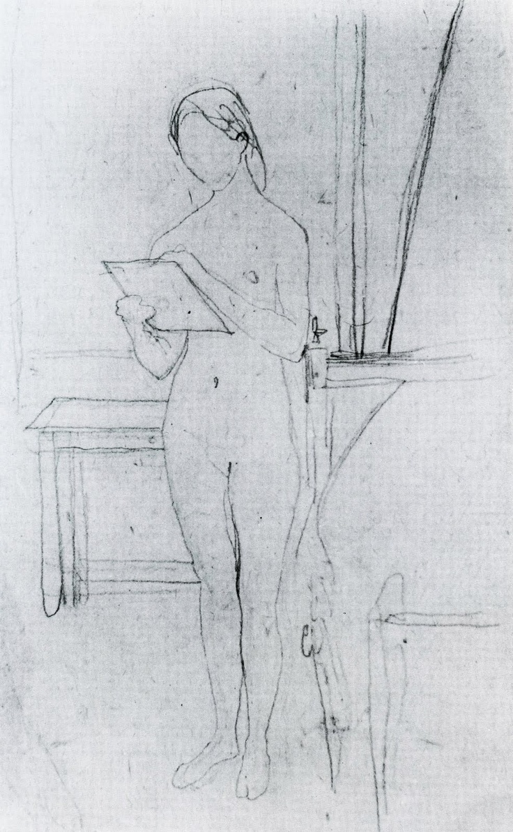 nude self portrait by Gwen John