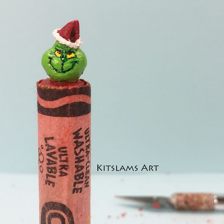 https://flic.kr/p/PZoj79 | Crayon Carving Art | The Grinch | It's my carving of The Grinch on the tip of a Crayola crayon.   Watch the Timelapse: youtu.be/GqnbLoxVETw