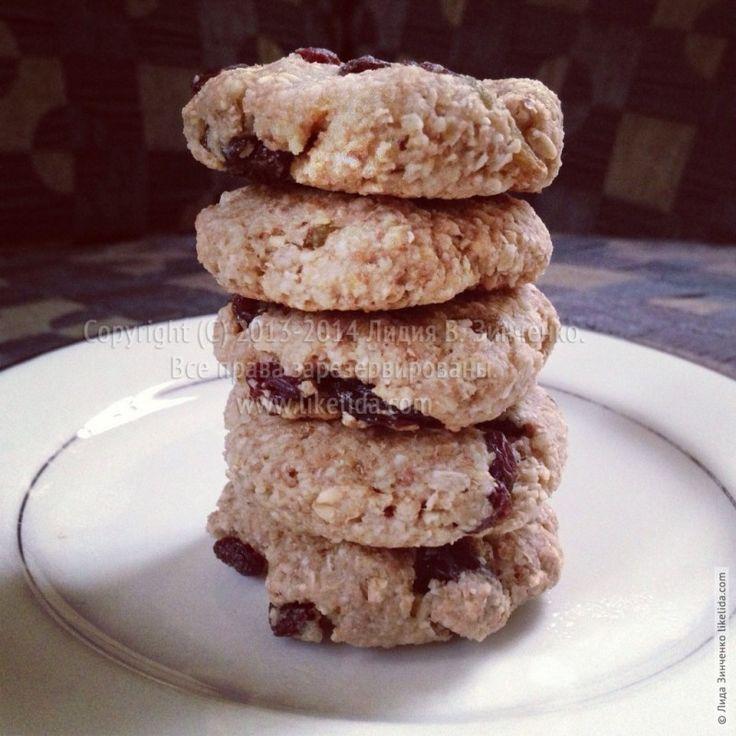 Веганское Овсяное печенье с изюмом