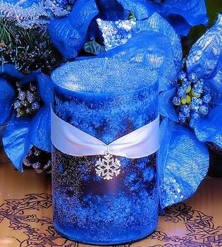Blue Snowdrift - Yule Ritual Pillar: