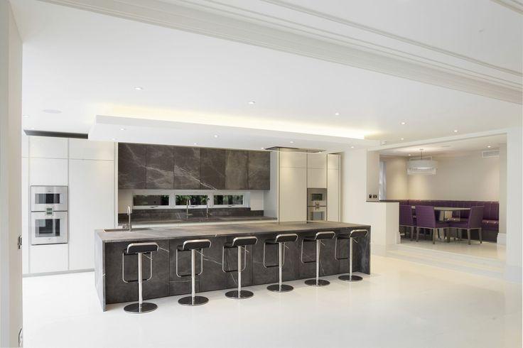 Cucina moderna / in pietra / con isola / modulare - T45 - TM Italia