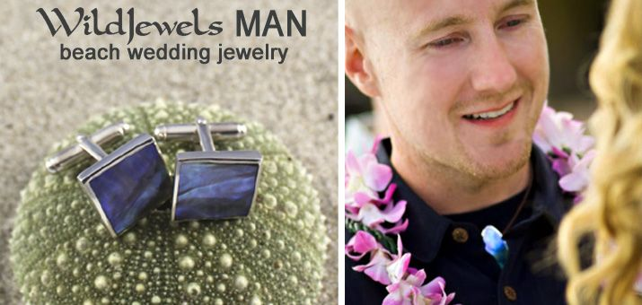 WILD JEWELS MAN Wild Jewels has a selection of men's jewelry.  Cufflinks in Paua and Mother of Pearl.  Pendants with natural leather cord - stunning for that beach wedding or the MAN of the sea.