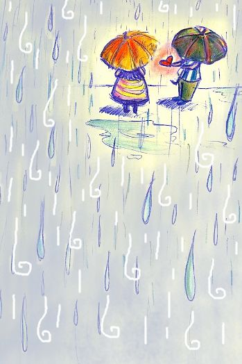 rain...rj and i absolutely love the rain. i think we'll be taking lots of cute pics together this winter in it!